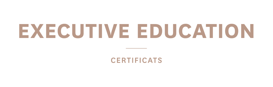 EXECUTIVE EDUCATION - Certificats